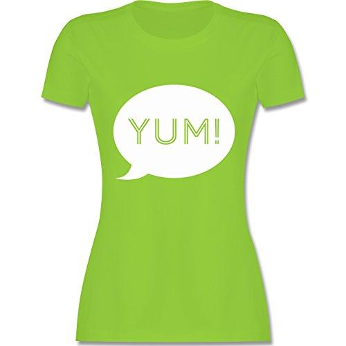 Küche - Yum Sprechblase - tailliertes Premium T-Shirt mit Rundhalsausschnitt für Damen Hellgrün