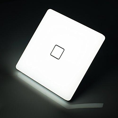 Öuesen 24W LED Deckenleuchte ersetzt 150W Glühbirne Kaltweiß 5000K led Deckenlampe IP44 Wasserfest LED Feuchtraumlampe 2050lm 180°Abstrahlwinkel ideal für Badezimmer Balkon Flur Bad Küche Wohnzimmer [Energieklasse A++]