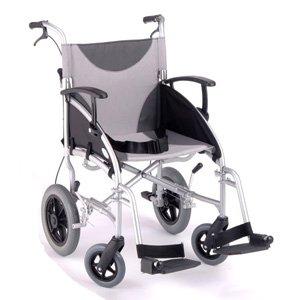 Z-Tec Lightweight Folding Aluminium Transit Wheelchair