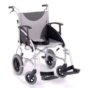 Z-Tec Lightweight Folding Aluminium Transit Wheelchair