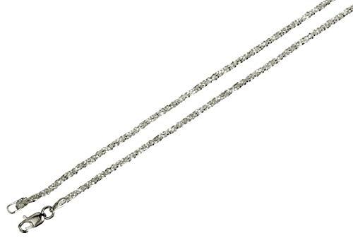 s 925 Sterling Silber diamantierte Qualitätskette aus Italien 1,4 mm von SILBERMOOS, Länge:45 cm ()