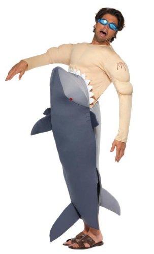 Imagen de smiffy's  disfraz de tiburón para hombre, tamaño universal alternativa
