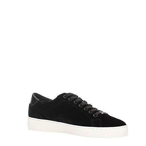 Michael Kors Sneaker Irving Lace Up Black Velvet Nero