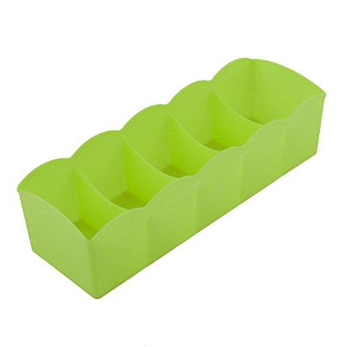 Sourcingmap® Schublade Plastik Rechteck 5 Fächer Untertragen Socke Speicherung Koffer DE - Rechteck Schublade