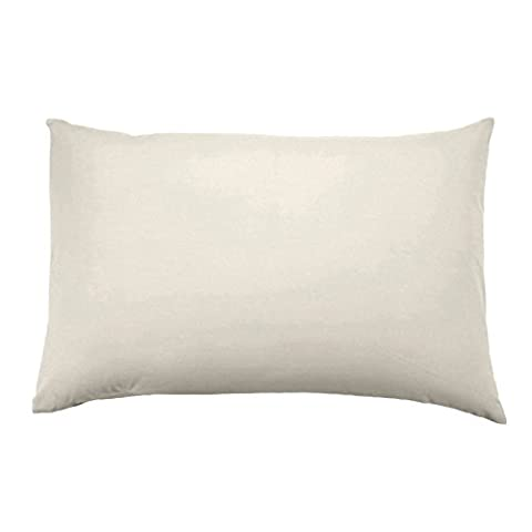 Homescapes Organic Cotton Cream Housewife Pillowcase 400 Thread Count Percale Hypoallergenic Bedding