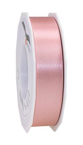 Ce pattberg präsent 25 mm 25 m nastro di raso rosa antico a doppia faccia