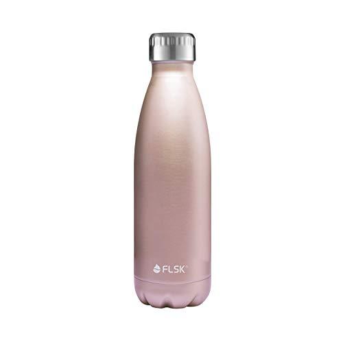 FLSK Das Original Edelstahl Trinkflasche - Kohlensäure geeignet | Die Isolierflasche hält 18 Stunden heiß und 24 Stunden kalt | ohne BPA und rostfrei - 500ml