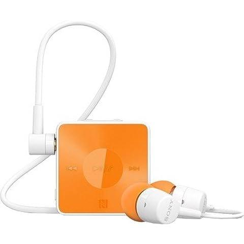Sony SBH20 - Auriculares (Binaurale, Naranja, Dentro de oído, NFC/Bluetooth, Track <, Track >, Volume +, Volume -, 0,5%)