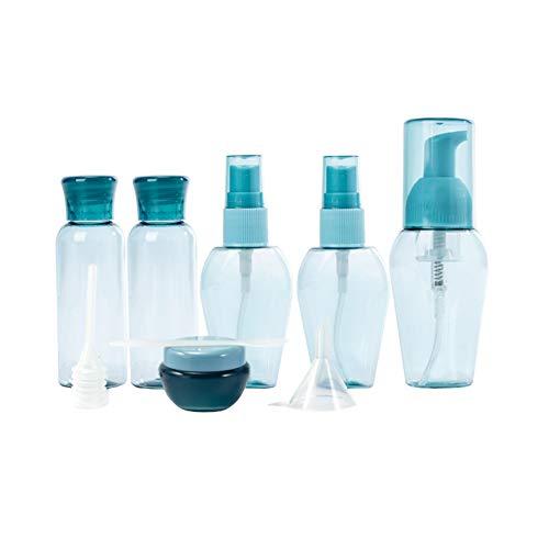 ba80e0b3c479 Travel Bottles Kit Travel Bottles Kit Leak Proof Portable Toiletry  Containers Squeezable Refillable Plastic Bottle for Lotion Shampoo Cream  Soap Blue ...