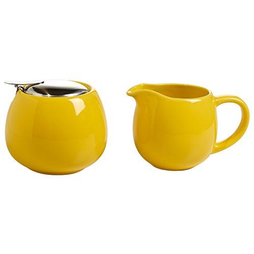 Maxwell & Williams InfusionsT Milch/Zucker-Set, Porzellan, gelb, 11.4 x 35.6 x 55.2 cm, 2-Einheiten