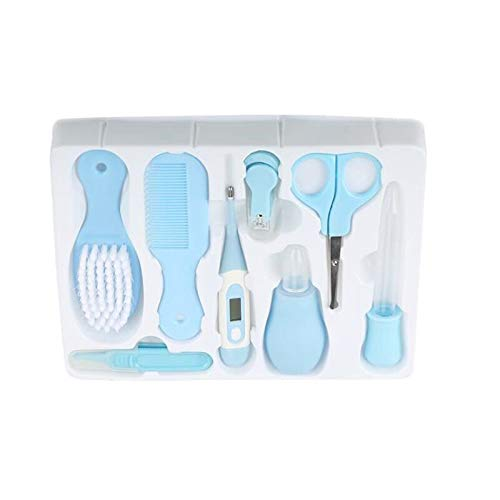 h Care Set Portable Born Kits Kids Grooming Kit Safety Cutter Nail 8pcs - Rustic Teal Boys Shower Black Modern Butterfly Beach House Brown Farm Bathroom Light Yellow Stainle ()