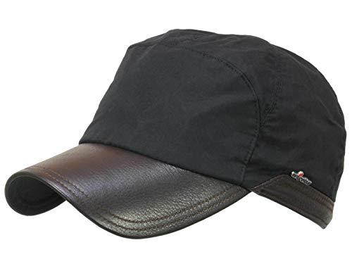 Wigens Bill Gore-Tex Baseballcap mit Ohrenklappen und Elchleder Schirm - Schwarz (999) - 58-59 cm (L)