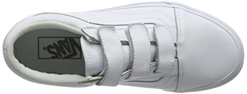 Vans Old Skool V, Chaussures de Running Mixte Adulte Blanc (True Whitemono Leather)