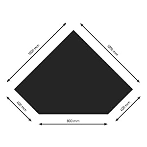 Schindler + Hofmann PU055-1B5-sw Bodenplatte B5 Diamant schwarz pulverbeschichtet 1000 x 1000 mm