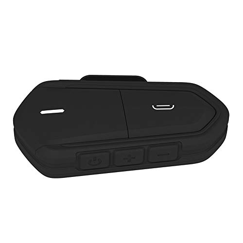 QLING - Set di Cuffie Bluetooth per Casco da Moto, intercom Impermeabile, interfono, Wireless, con Radio FM, Lettore MP3, Nero, Taglia U