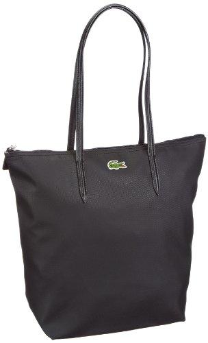 Lacoste Women Handbag Sac cabas en matière synthétique, pour femme Noir - Schwarz (Black 000)