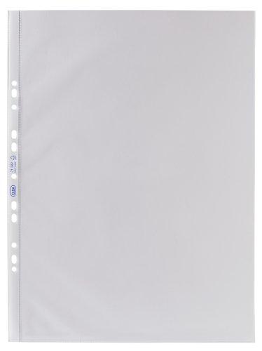 ELBA 100460995 Prospekthüllen Sonderformate für DIN A3 hoch 25 Stück 0,09 mm oben offen genarbt blendfrei Universallochung Klarsichthülle ideal für Ordner Ringbücher und Hefter