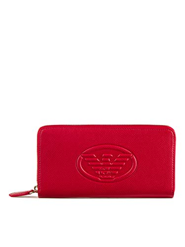 Emporio Armani Frida Eagle Logo Zip Wallet One Size RED
