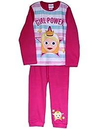 Emoji Conjunto de Pijama con pantalón Largo y Mangas de niña Girl Power con Licencia