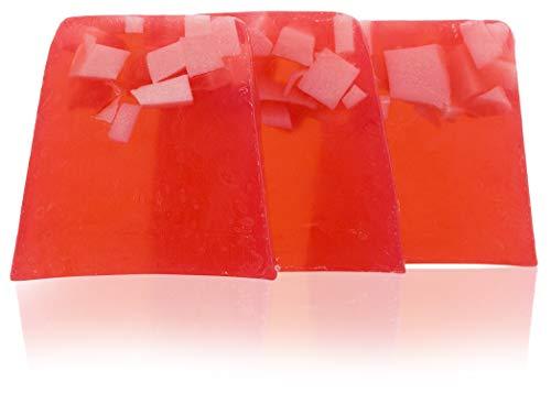 Kakaobutter-seife (100% natürliche handgemachte Seife mit bulgarischen Rosenöl, Kakaobutter, Sheabutter. Elixier der Jugend. Hände, Füße, Haare und Körper antibakterielle und antimykotische Seife. 3x100 gr.)