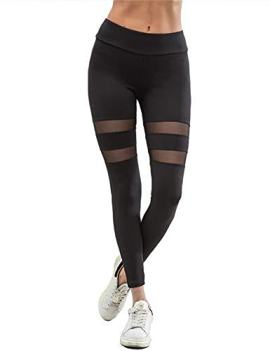 FITTOO Modische Yogahosen Mit Mesh Atmungsaktive Fitness Leggings Jogginghosen Laufenhosen Für Damen S M L XL