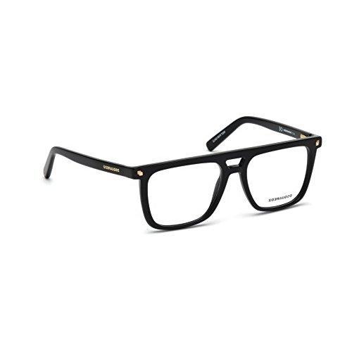 Occhiali da vista dsquared2 nero lucido uomo dq5252 001 53-17-140