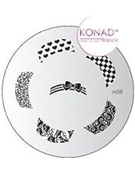 Plaque disque motifs M56 Konad stamping nail art
