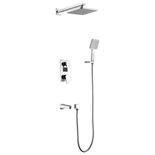 duschgarnitur unterputz Homelody 3 Funktionen Duschsystem LCD Display Unterputz Duschset mit Duschkopf Kopfbrause Regendusche Handbrause und Armatur Duscharmatur Dusche