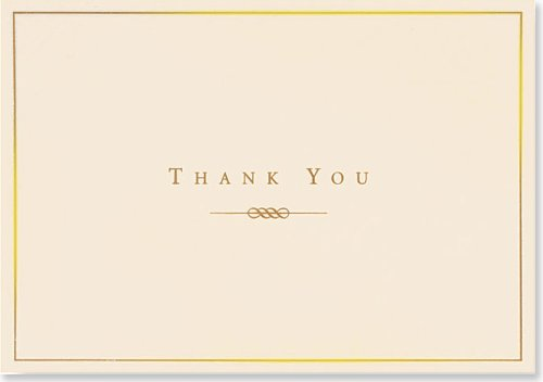 Boxed Thank You Notes: Gold & Cream (Note Card Series)