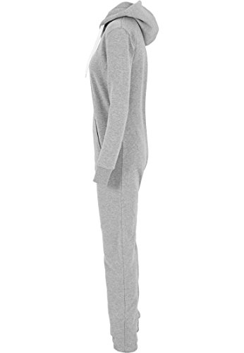 Urban Classics TB1077 Ladies Sweat Jumpsuit Overall Anzug Teddy Damen gry/wht