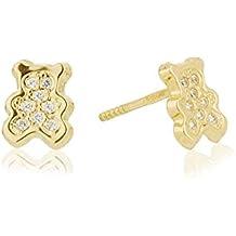Córdoba Jewels |Oro 18K y zirconitas. Diseño Peluche Zirconita