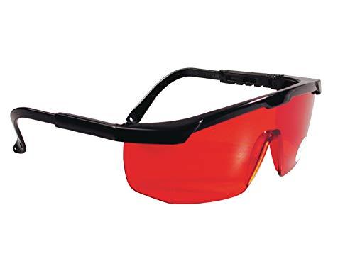 Stanley Laserbrille 1-77-171 Rot - Laserlichtbrille für einfacheres Erkennen von Laserstrahlen - Optimal bei ungünstigen Lichtverhältnissen - Rote Kunststoff-Gläser mit schwarzem Gestell