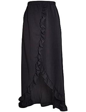 Falda Asimétrica Irregular De Las Mujeres, Largo Maxi Skirt Faldas De Fiesta