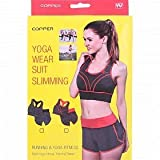 Vepson Yoga Wear Suit Sports Bra and Boxer Set, Women Workout Yoga Fitness Wear Suit Running Slimming