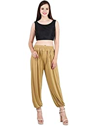 Jollify Solid Cotton lycra green Harem Pants