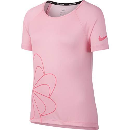 Nike Mädchen Graphic T-Shirt, White/Pink Nebula, XS - Mädchen Graphic T-shirt