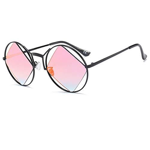 BENatural-UK Damen Sonnenbrille mit 4 quadratischen Gläsern UV400, Unisex, Farbverlauf, rund Gr. Einheitsgröße, C8 With Box