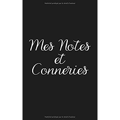 Mes notes et conneries: Un petit carnet  ligné rigolo pour toutes vos notes