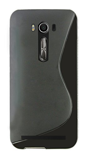 Emartbuy Ultra Slim Gel Skin Case Back Cover Black Wave for Asus ZenFone 2 La...  available at amazon for Rs.129