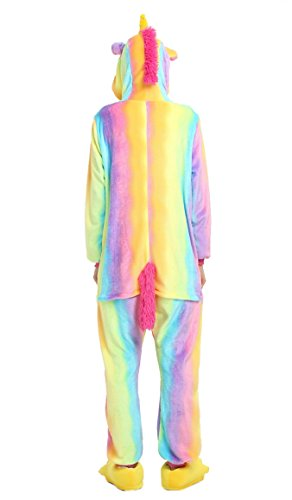 Tuopuda Kigurumi Unisex Adulto Cosplay Halloween Costume Animale Pigiama Unicorno colorato