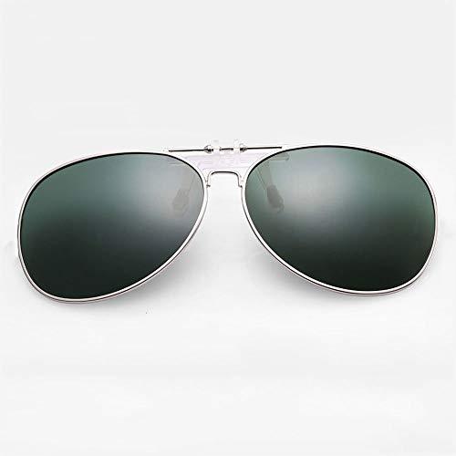 SCJS Polarized Lens Sonnenbrille für Damen mit Clip-Gläsern Myopie-Brillenclip Flip-Up Polarized Sun Lenses (Farbe: C)