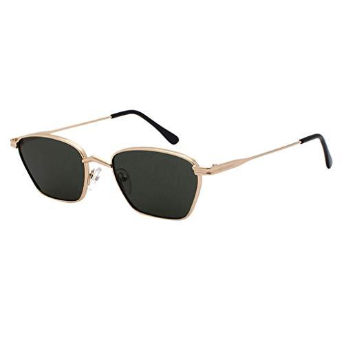 Herren Sonnenbrille Polarisierte Fahren Gläser Ultra Leicht Metall Rahmen Verspiegelt PPangUDing Retro Vintage Design Classic Original Ultraleicht Outdoor Sport (Eine Größe, Grün)