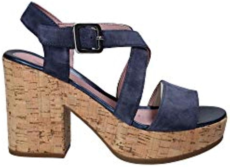 Stonefly 110365 Sandalo Tacco Donna Blu 41 | Design ricco  | Scolaro/Ragazze Scarpa