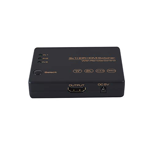 4k60hz 3 Port HDR HDMI Switcher 3x1 Selector Support USB Power Source IR Remote UHD 3840 * 2160P HDCP2.2 Switch for UHDTV BLU-Ray PS3/PS4PRO Xbox 360/One Wii U PC