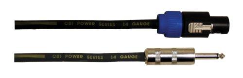 CBI Lautsprecherkabel 14 Gauge Speakon auf 1/4 Zoll 10 Feet (Lautsprecherkabel 10 Gauge)