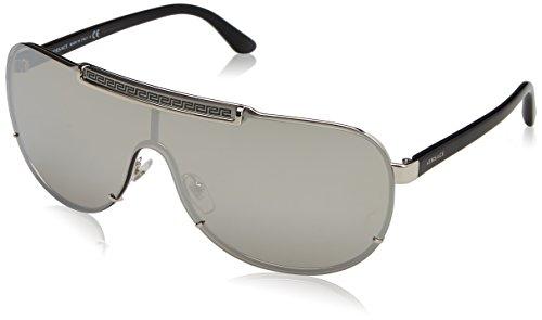 Versace Herren 0VE2140 10006G 40 Sonnenbrille, Silber (Silver/Lightgreymirrorsilver),