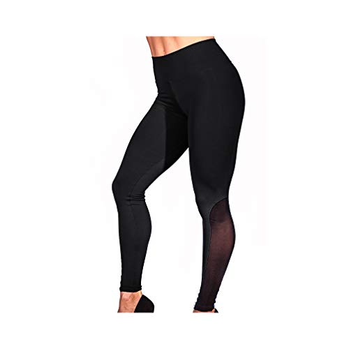 aoliaoyudonggha Women Mesh Push Up High Waist Patchwork Patchwork Workout Legging Pencil Pants -