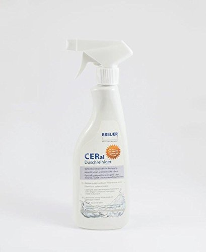 Breuer CERal Duschkabinen Reiniger 500 ml für Nano versiegelte Glasflächen Duschreiniger Glasreiniger Spezialreiniger zur Pflege Ihrer Duschkabine Putzmittel für die Dusche und Glas