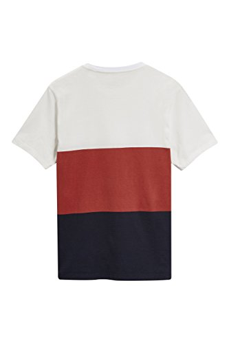 next Herren T-Shirt mit Blockmuster Regular Marineblau/Rot