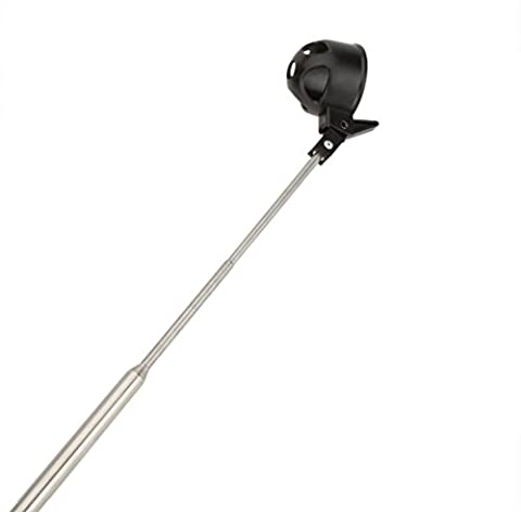 Tolako 2M Golf Ball Retriever - Telescopic Golf Balls Picker Pick Up Tube 16 to 78 inch Retracted Length, Stainless Steel Shaft, Automatic Locking Scoop (2m)